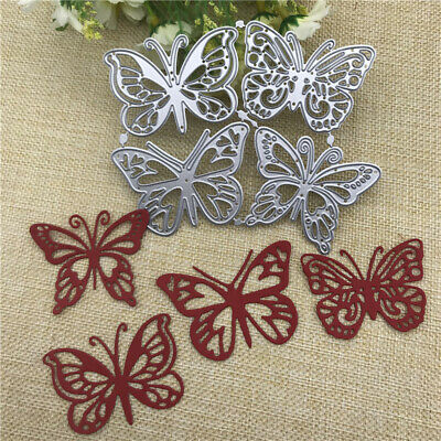 4pcs Butterfly Metal Cutting Dies Scrapbooking Album Photo Embossing Gifts Cards