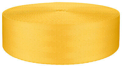 2 Inch Seat-belt Yellow Polyester Webbing Closeout, 5 Yards