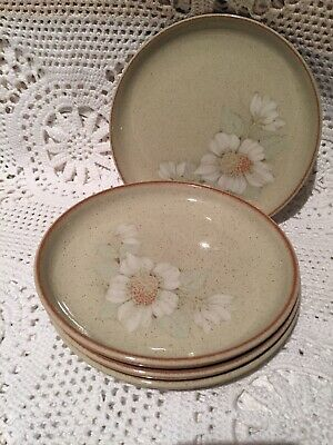 "DENBY DAYBREAK SET OF 4 X 6.5"" or 17cm, TEA/SIDE PLATES"