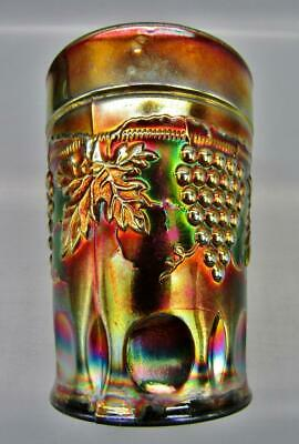 """Northwood GRAPE & CABLE Lovely Amethyst Carnival Glass 4"""" Tumbler 6880"""