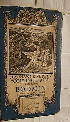 Cornwall, Bodmin, Padstow Map.1933 Ordnance, Ellis Martin Famous Picture Cover