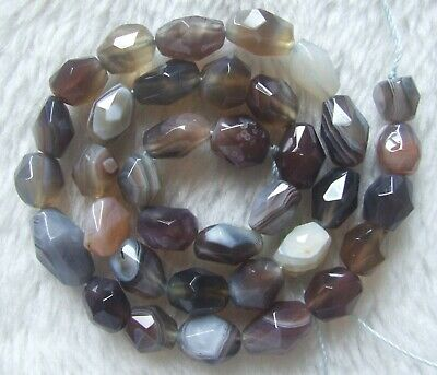 8x10mm Natural Persia Agate Faceted Freeform Loose Beads 15.5Inch