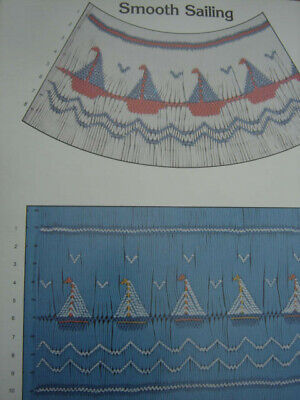 Rare Smooth Sailing Smocking Pattern Mollie Jane Taylor 1980 1 Sheet