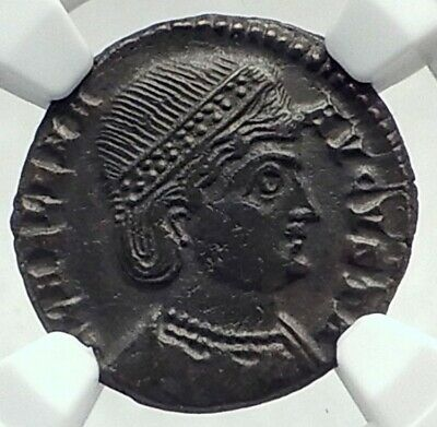 Saint HELENA Mother of CONSTANTINE the GREAT 324AD Ancient Roman Coin NGC i79651