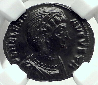 Saint HELENA Mother of CONSTANTINE the GREAT 318AD Ancient Roman Coin NGC i79653