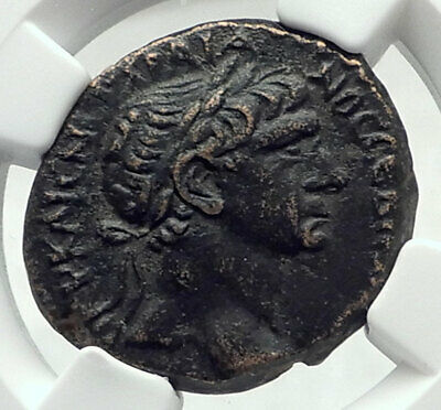 TRAJAN Authentic Ancient 100AD Roman Coin of ANTIOCH Wreath NGC CERTIFIED i79655