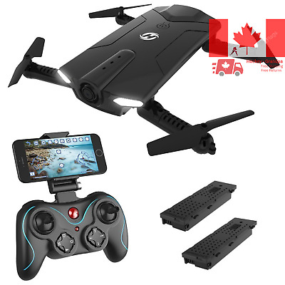 Holy Stone HS160 Shadow FPV RC Drone with 720P HD Wi-Fi Camera Live Video Fee...