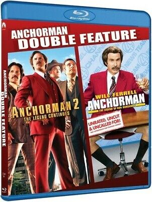 ANCHORMAN DOUBLE FEATURE Blu-ray 1 2 Legend of Ron Burgundy + Legend Continues