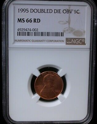 1995 1C Ngc Ms 66 Rd Doubled Die Obverse 1995 Lincoln Memorial Cent Penny
