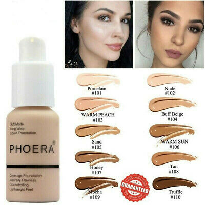 PHOERA Soft Matte Full Coverage Cream Coverage Liquid Foundation Makeup Cream