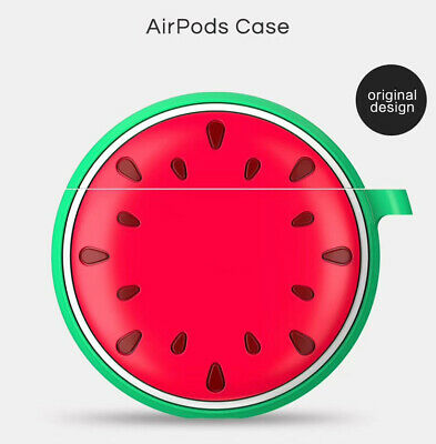 For Airpods 1 2 Case Silicone Watermelon Wireless Bluetooth Earphone Soft Box