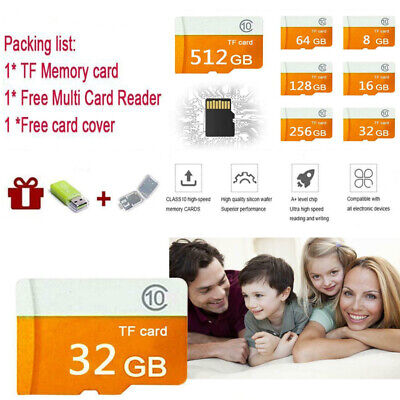 SD Speicherkarte Handy 32/64/128/256/512GB micro SD Card Class10 TF Flash SDHC