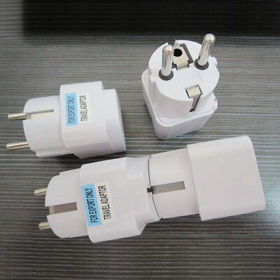 US UK AU To EU Europe Travel Charger Power Adapter Converter Wall Plug Home`FR