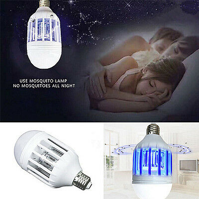 E27 15W LED Zapper Anti-Moustique Ampoule Lampe Insectes Vola I`FR