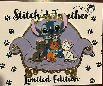 Stitch'd Together Aristocats Fantasy Disney Pin Le 50 Jumbo Chair Marie Berlioz