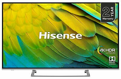 Hisense H43B7500UK 43 Inch 4K Ultra HD HDR Smart WiFi LED TV - Silver