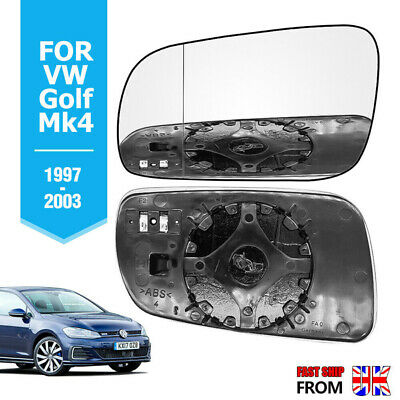 Left side for VW Passat 96-04 Wide Angle heat Blue wing door mirror glass