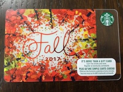 """Canada Series Starbucks """"FALL 2017"""" Gift Card - New No Value"""
