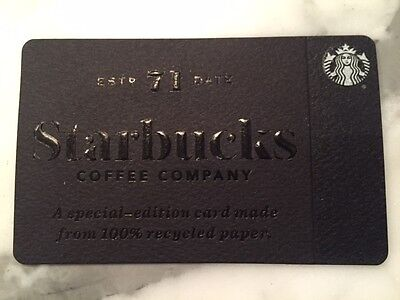 "Canada Series Starbucks ""RECYCLED PAPER 2017"" Gift Card - New No Value"