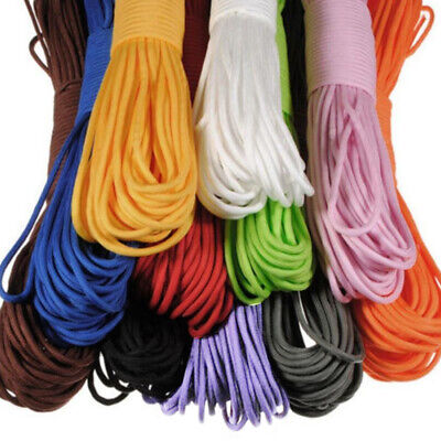 100FT 550 Parachute Cord Mil Spec Type III Paracord 7 Strands Cores Lanyard US