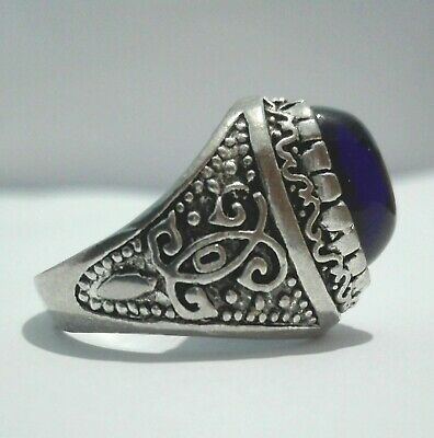Extremely ANCIENT Rare RING VIKING SILVER OLD Medieval Massive museum quality