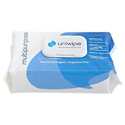 Uniwipe Mulipurpose 100 Large Wipes Heavy Duty Industrial Cleaning Wet Cloths