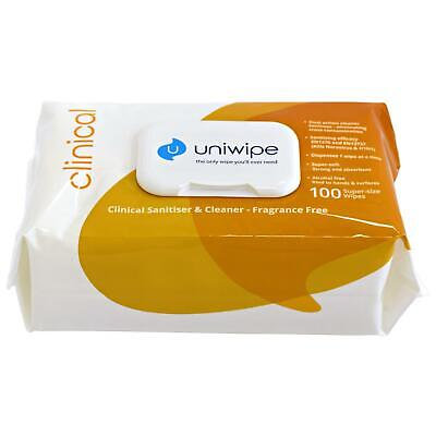 Uniwipe Clinical Sanitising 100 Large Wipes Heavy Duty Industrial Cleaning Cloth