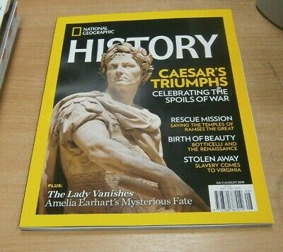 National Geographic History magazine JUL/AUG 2019 Caesar's Triumphs, Earhart's