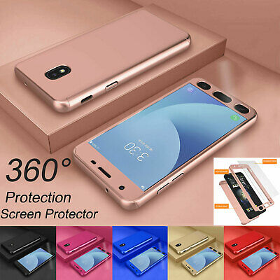 Case For Samsung Galaxy J3 J4 J6 Shockproof 360 Hard Cover + Screen Protector