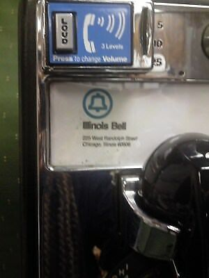 AT&T Vintage Western Electric Illinois Bell Rotary PayPhone For Home Use Only