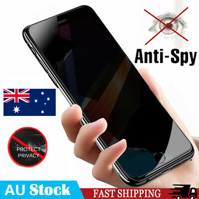 Anti-Spy Privacy Tempered Glass Screen Protector For Apple iPhone XS Max 7 8Plus