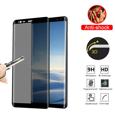 Privacy Anti-Spy Tempered Glass Screen Protector For Samsung Galaxy S9 S8 Note 9