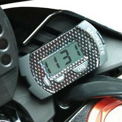 Carbon Digital Clock With Back Light For Car/Motorbike/Motorcycle/Bike Tank/Yoke