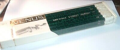 Vintage Full Box 1950s Drafting Drawing pencils VENUS 3H grade Free ship