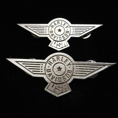 Lot Of Two Harley Davidson Fatboy Classic (  Pin ) Aprox 2 3/4 Inches Wide