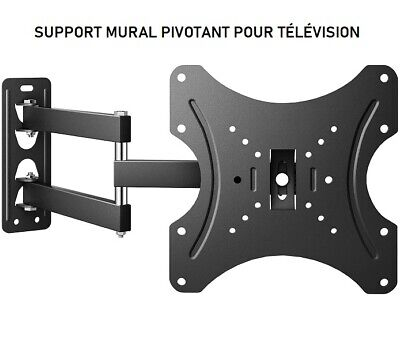 Support Mural tv Pivotant Inclinable Orientable Flexible Fixe Convient  Multiple
