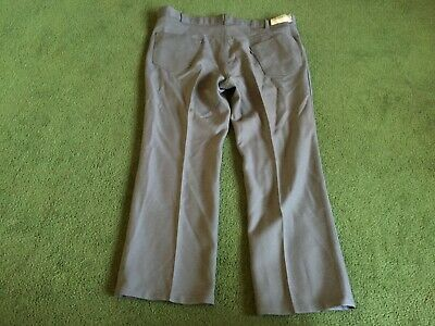 Vintage Mens Levi's Sta-Prest Grey Jeans Pants Size 42 X 30 Made In Usa