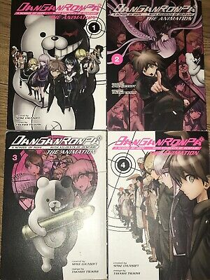 Danganronpa The Animation Manga Volumes 1-4 Paperback Anime Book Anime