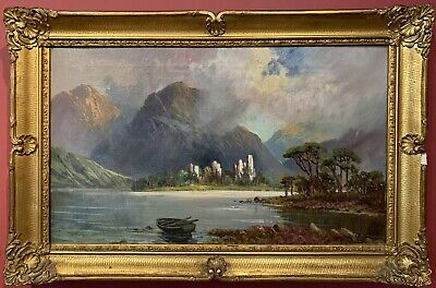 F. E. Jamieson (1895-1950) Signed Antique Scottish Oil Painting - Loch Awe
