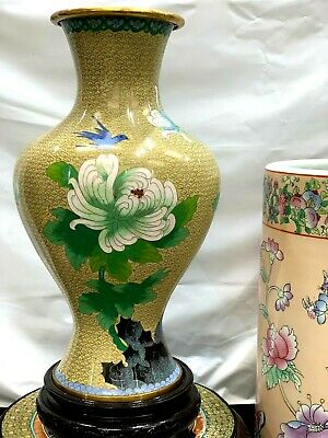 Hand made Beautiful multi-color cloisonne pair of vases