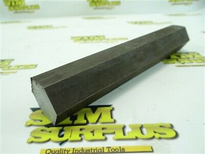 "3Lb Solid Hexagon 1018 Steel Stock 1-1/4"" X 7-3/4"""