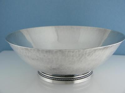 Swedish 830 Silver BOWL hammered Modernist ~ hallmarked MGAB Handarbete 8.84ozt