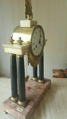 19th Century French Mantel Clock 8 Day Striking Brass Antique Clock