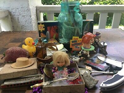 Junk Drawer Coins Spoons Toys Antiques Cards Etc $LOOK$!