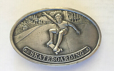 Bergamot Brass Works Vintage SKATEBOARDING Belt Buckle 1977