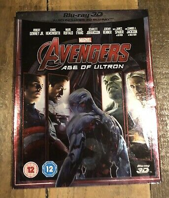 Marvel's Avengers Age Of Ultron 3D 2 Disc Blu Ray With Slipcase