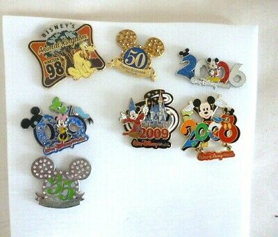 Lot Of 7 Authentic Disney Trading Pins