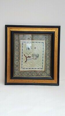 Beautiful Vintage Chinese Hand Embroidered Silk Picture Heavy Gilded Frame Glaze