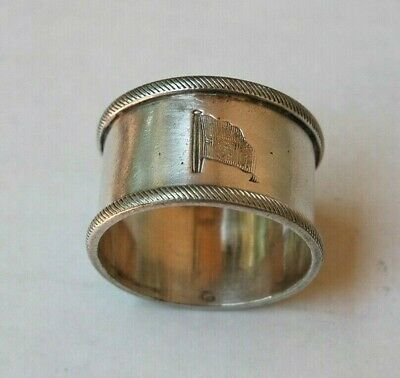 Antique Silver Plate Union Steam Ship Co. New Zealand Napkin Ring