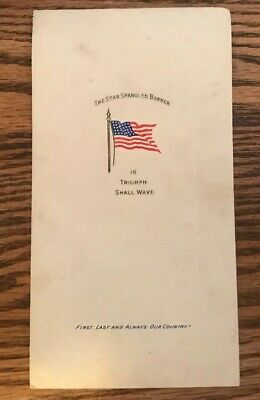 The Star Spangled Banner, booklet W/ embossed cover printed for centennial 1917